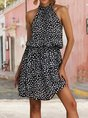 Sundress  Holiday Halter Floral Mini Dress