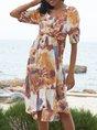 Floral-Print Shift Boho Midi Dress
