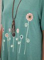 Green Floral Shift Printed Casual Top