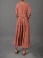 V Neck Daily Vintage Stripes Dress